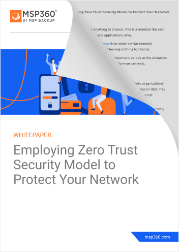 Employing Zero Trust Security Model to Protect Your Network cover lp