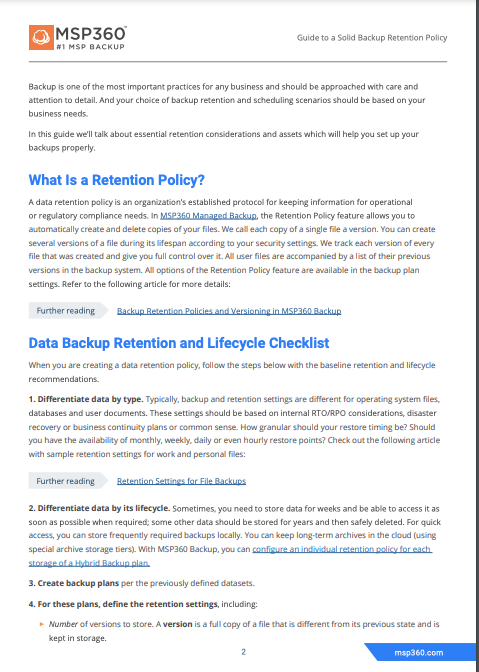 Guide to a Solid Backup Retention Policy preview 4