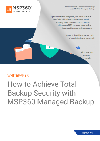 How to achieve total backup security preview 2
