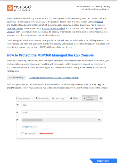 How to achieve total backup security preview 4