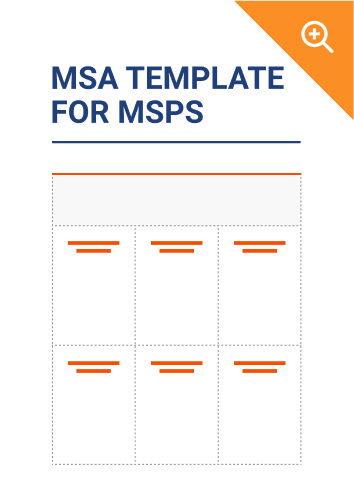 MSA Template for MSPs