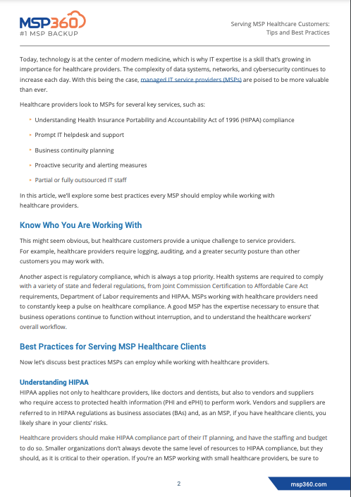 Serving MSP Healthcare Customers preview 4