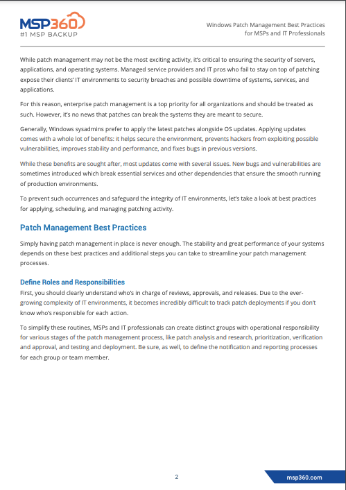 Windows Patch Management Best Practices for MSPs and IT Professionals preview 4