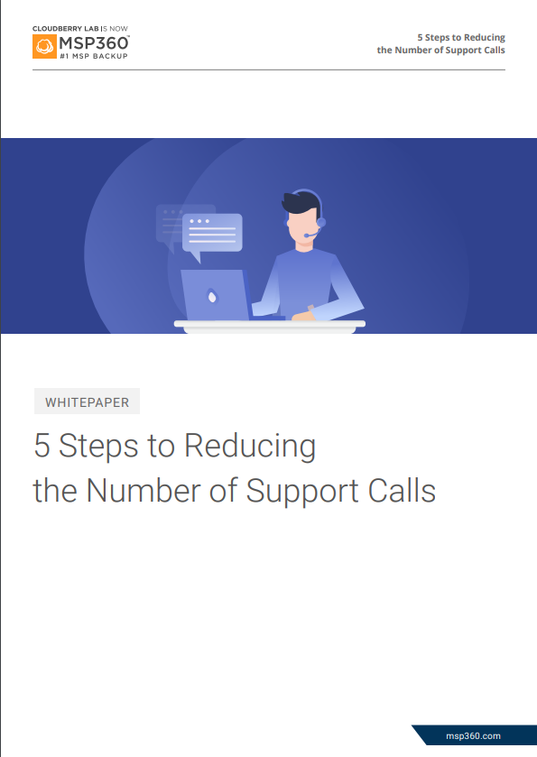 reducing the number of support calls preview